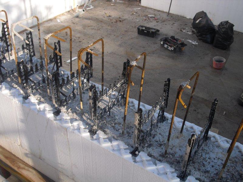 murature in cemento armato coibentate con casseri in polistirolo ...